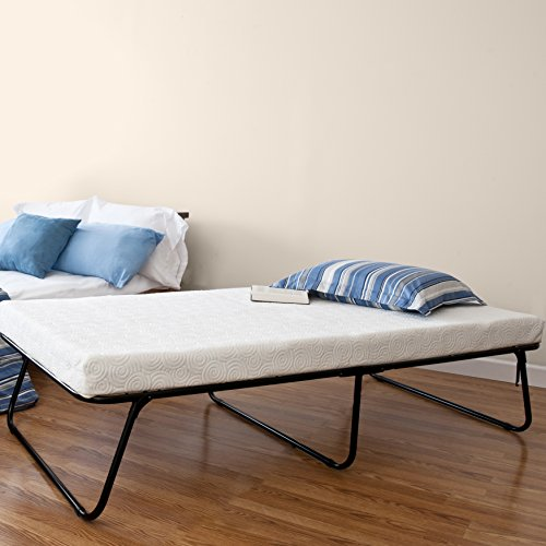 The Foldable Rollaway Guest Bed Is A Very Sturdy With Size Of 75 Inches X 38 14 Memory Foam Twin Mattress Four Thick
